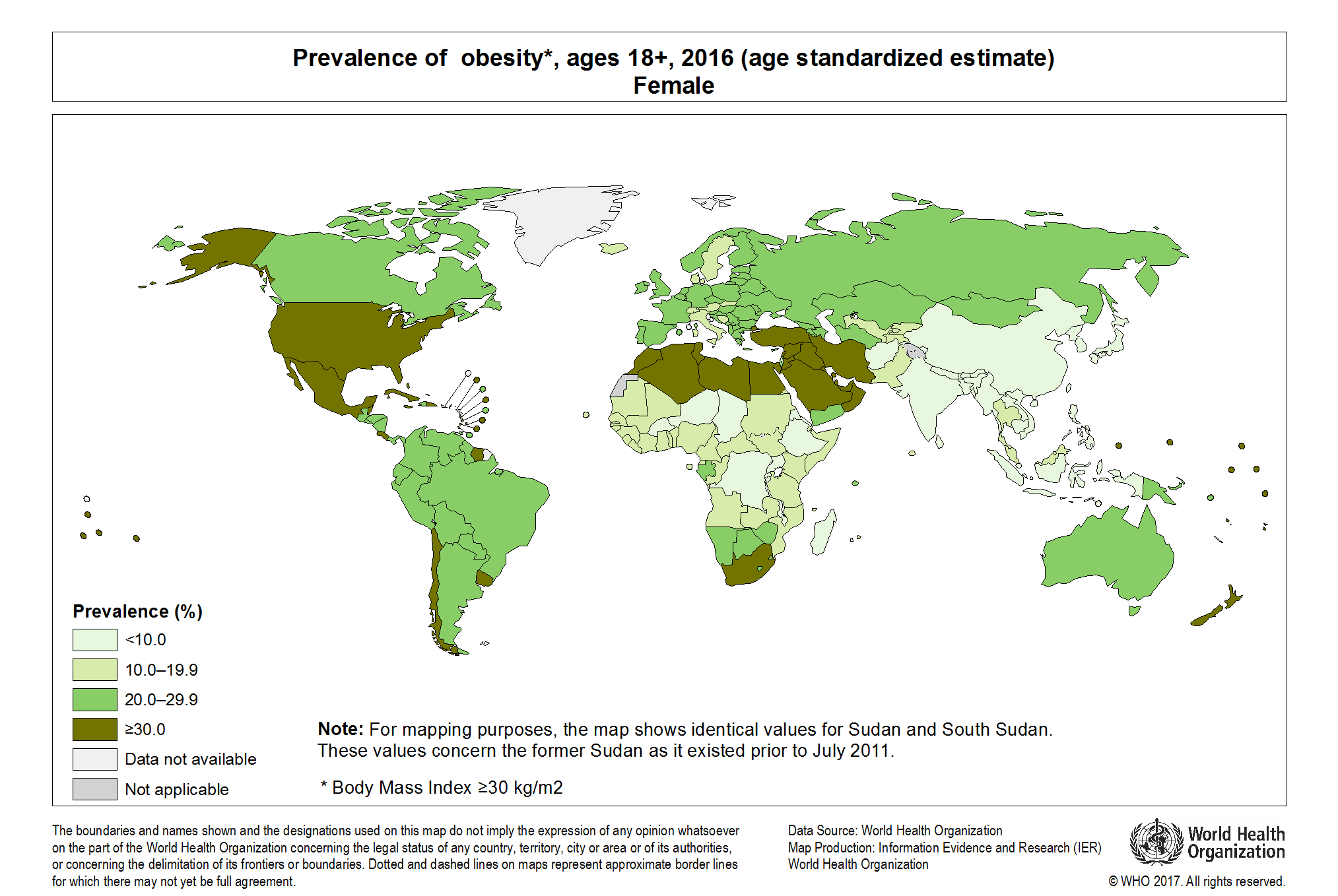 Who Global Health Observatory Map Gallery