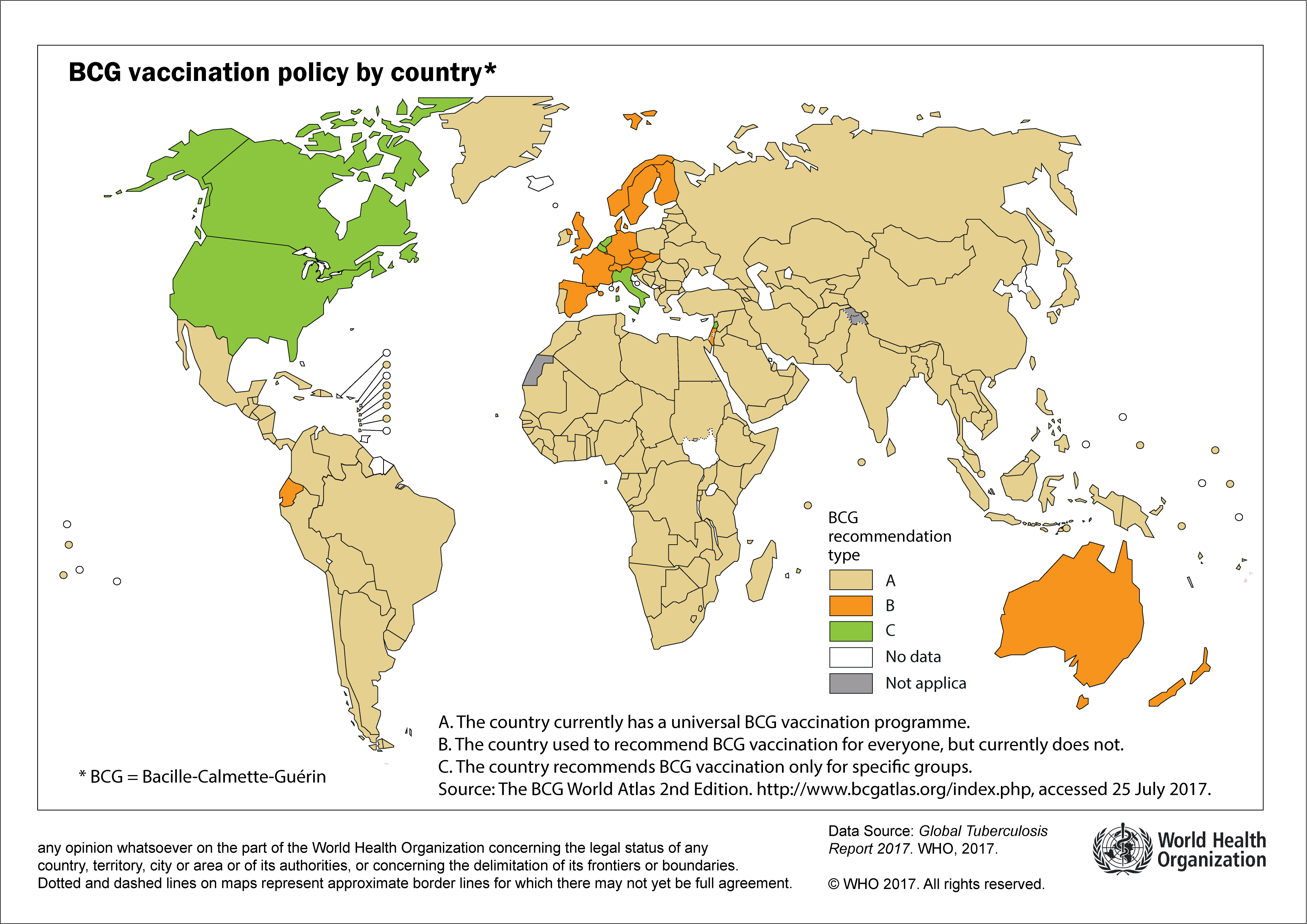 Who global health observatory map gallery world bcg vaccination policy by country gumiabroncs Images