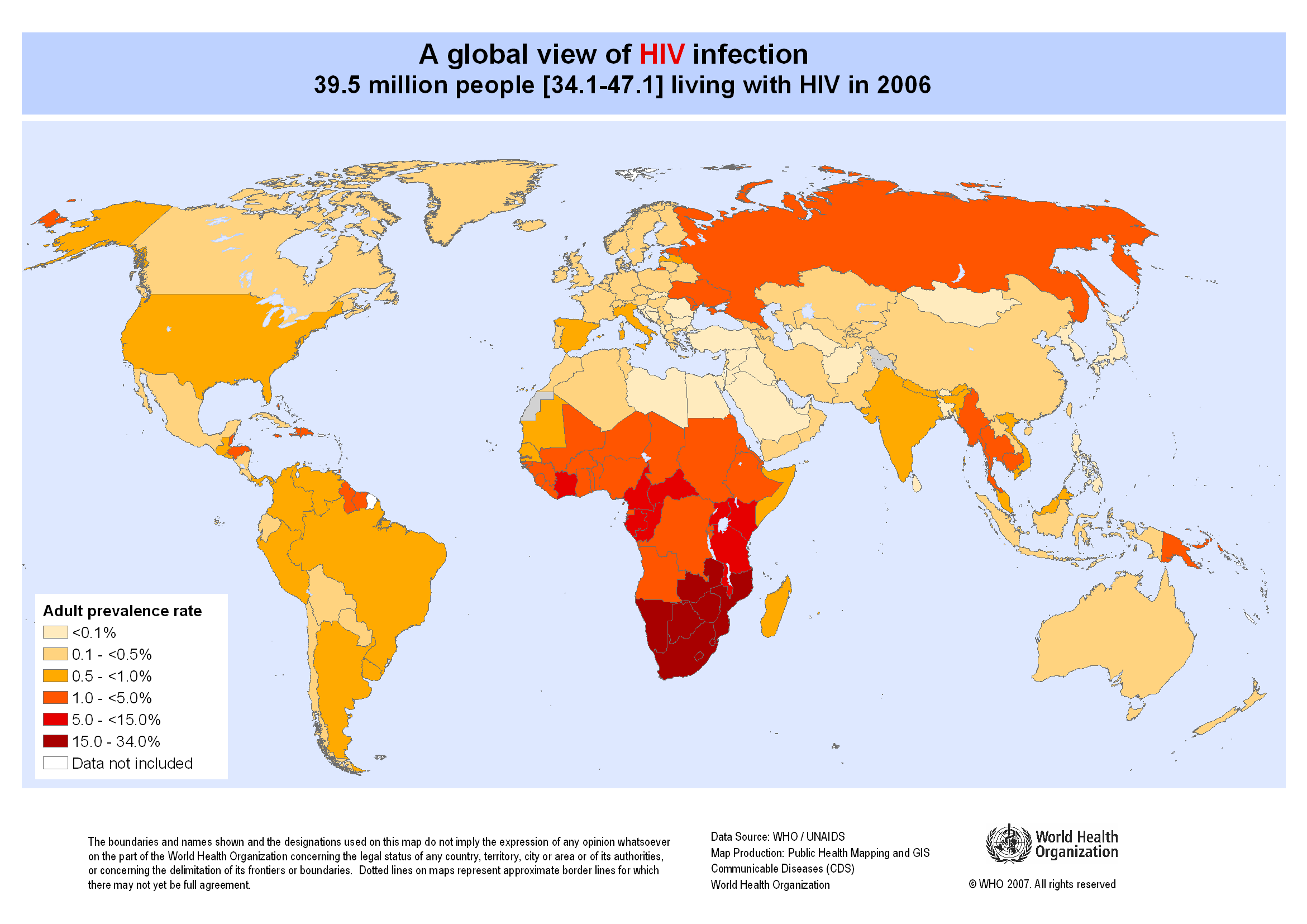An analysis of the infection and spread of the global epidemic of hivaids