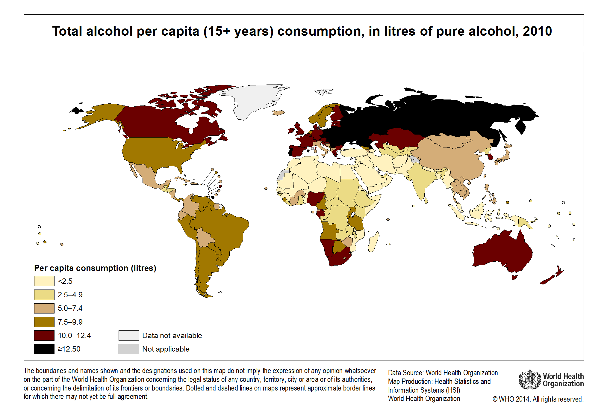 In The European Continent Global Consumption Percapita